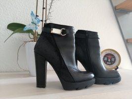 Ralph Harrison Platform Booties black leather