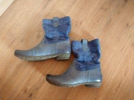 Stiefeletten Schuhe blau Leder Marc