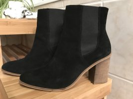 Mango Bottines à enfiler noir faux cuir