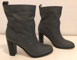 Sommerkind Wciągane buty za kostkę ciemnoszary Skóra