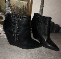 ASH Bottillons noir cuir