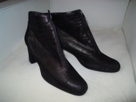 Brunella Zipper Booties black-bronze-colored leather