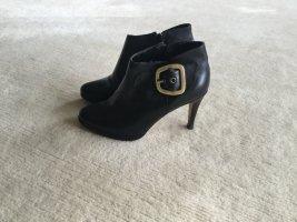 Buffalo London Bottes à bout ouvert noir cuir