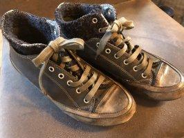 Candice Cooper Bottines à lacets bleu foncé-gris foncé cuir