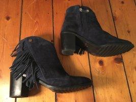 Western Booties dark blue-black leather