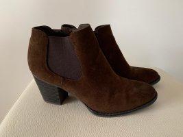 Graceland Wedge Booties dark brown