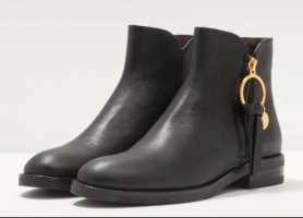 See by Chloé Booties black leather