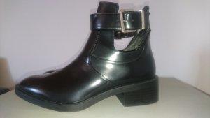 Zara Bottine ajourée noir-argenté