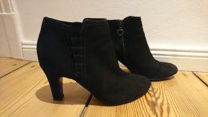 Stiefeletten Wildleder Gr.38*High Heels Ankle Boots schwarz
