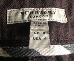 Burberry 3/4 Length Trousers dark brown cotton