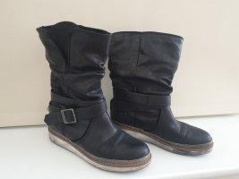 Stiefeln Björn, schwarz, Schnürstuefel. die sind sauber, das ist die original Farbe.