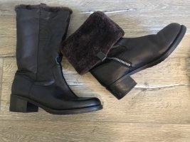Aigner Fur Boots black-brown