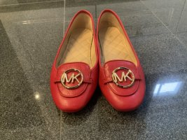 Michael Kors Mary Jane Ballerinas red-gold-colored leather
