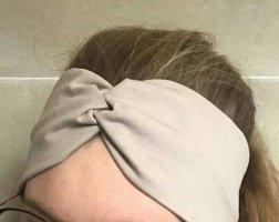 Stirnband Bandeau beige sand Raffung