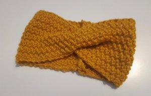 Gebreide Muts goud Oranje
