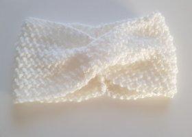 DIY Orejeras blanco tejido mezclado