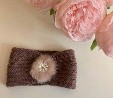 Bijou Brigitte Bonnet en crochet or rose