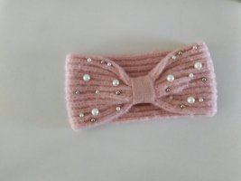 Pieces Cappello in tessuto rosa pallido