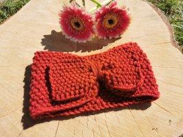 Bandeau cheveux rouge laine (laine mérinos)