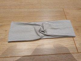 Stirnband Streifen grau weiß Jersey