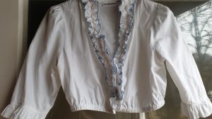 Stockerpoint Blusa tradizionale bianco-blu neon Cotone