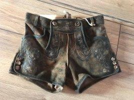 Stockerpoint Pantalone in pelle tradizionale marrone