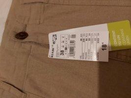 Pantalón de lino marrón claro