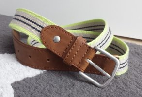 no name Cinturón de tela multicolor Cuero