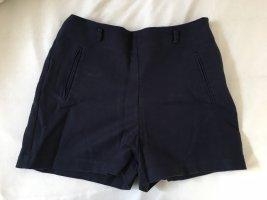Zara Basic Short taille haute bleu foncé