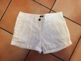 Stoff Shorts weiß, H&M, Gr. 36