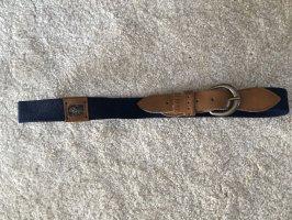Fabric Belt dark blue-brown