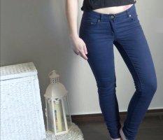Stoffhose dunkelblau Hose Stretch skinny normal waist