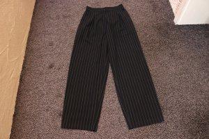 FlashLights Pantalón de cintura alta negro Viscosa