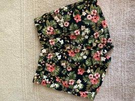 Stoffhose mit tropischem Print