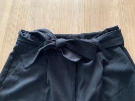 Stoffhose Schwarz mit bindegürtel
