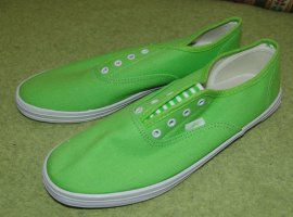 AF Zapatillas deslizantes verde neón Algodón