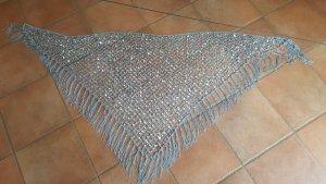 Gehaakte sjaal zilver-lichtgrijs