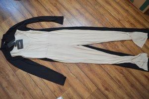 Stone Square Neck Split Hem Jersey Jumpsuit 38 Pretty Little Think