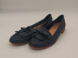 Stradivarius Mary Jane Ballerinas brown-dark blue