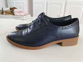 Stradivarius Wingtip Shoes dark blue