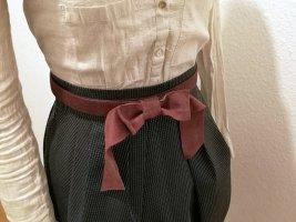 Stradivarius Leather Belt bordeaux leather