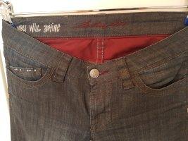 Straight fit Jeans mit Schimmer