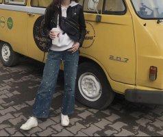 Straight Jeans mit Perlen Zara