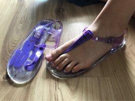 Sandały plażowe jasny fiolet
