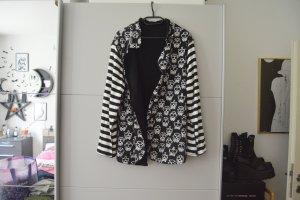 Jersey blazer wit-zwart