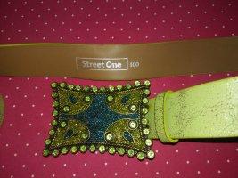 Street One Ceinture en similicuir vert