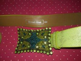 Street One Ceinture cloutée vert gazon-vert tissu mixte