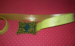 Street One Faux Leather Belt lime-green-green mixture fibre
