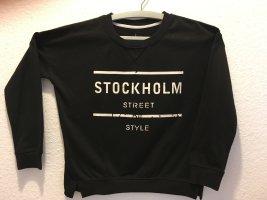 Atmosphere Pull norvégien noir-blanc polyester