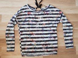 Bershka Gestreept shirt wit-zwart